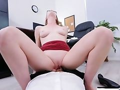 Assistant In Glasses Ashley Lane Gives Her Head And Gets Fucked In The Office