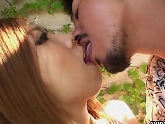 Bashful Asian Doll Emiko Shinoda Gets Her Cooter Toyed By One Skilled Stud