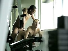 Lovely Asian Hoe Alyssa Branch Is Having Lovemaking With The Spotter In The Gym