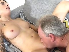 Youthfull Lucie Amour Takes On A Senior Fuckpole Big Time