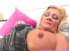 Bigtits Granny Gargles Manhood And Gets Fucked