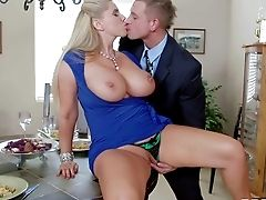 Rough Chested Blonde Cougar Karen Fisher Likes In Getting A