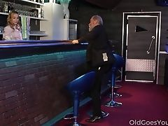 Youthful Barmaid Rebecca Is Having Dirty Fuckfest Joy With One Exotic Old Timer