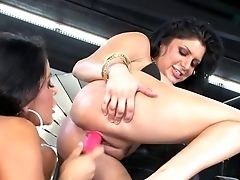 Hot Blooded Black-haired Mikayla Mendez And Sativa Rose Share Their