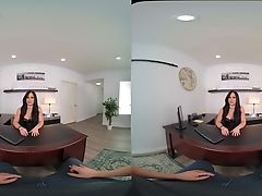 Unspoiled Vr Shows Hot Dark-haired Railing Like A Queen