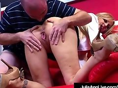 Horny Cougar Tutor Julia Ann Fellates & Fucks Her Pupil!