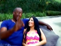 Erotic Amber Cox Has Always Had A Loving Of A Meaty Black Hard-ons She Finds Herself Lucky Outdoors As She Gets A Humungous Black Jizz-shotguns Gets H