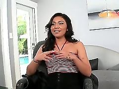 This Sexy Mexican Stunner Has Her Very First Time Ever Casting In The Office. She Looks Fantastic And Isnt At All Jumpy As She Strips Her Clothes Off