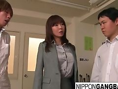 Beautiful Japanese Honey Is Group-fucked In The Classroom