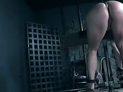 Tied Up Bitch With Metal Hook In Her Booty Skylar Snow Gets Penalized