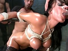 Anal Invasion Gang-fuck In Jail For Huge-chested Anissa Kate