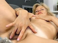 Torrid Ash-blonde Head Diana Gold Is Engaged With Taunting Her Czech Hairy Cunny