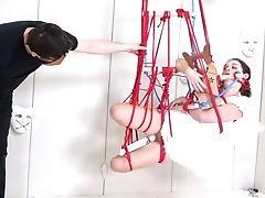 Skimpy Fallen Angel Anastasia Rose Gets Tied Up And Savagely Masturbated