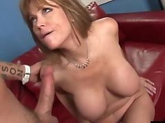 Buxom Brown-haired Cougar Luvs Being Hammered With A Thick Boner