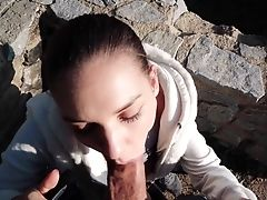 Henessy Gets Fucked In Outdoors For Money