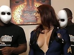 Two Decadent Black Dudes Fuck Whorish Huge-boobed Milky Chick Karmen Karma