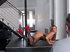Filthy Experienced Sex Industry Star Studs Jon Jon, Mark Anthony And Prince Yahshua Luvs Filming Horny Blonde Sheena Shaw In Fishnet Underwear And Str