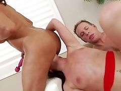 Lovemaking-greedy Wifey Francesca Le And Her Hubby Mark Wood Fuck Lovemaking-appeal Youthfull Brown-haired