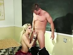 Sassy Coed Jessa Rhodes Talks Her Lecturer Into Having Fuck-a-thon With Her