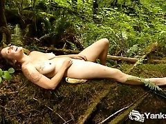 Buxom Misty Masturbate Outdoors