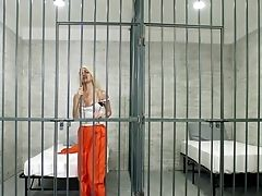 Horny Blonde Inmate Fucks Cop In Her Cell