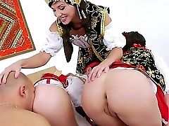 Omar Galanti Has Never-to-be-forgotten Fucky-fucky With Three Bitches In This Scene. Alysa, Anita Hengher And Isabella Clark Suck His Fat Cane Before
