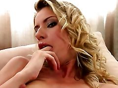 Blonde Marilyn Cole Dreaming About Real Romp With Real Man With Her Thumbs In Her Love Tunnel
