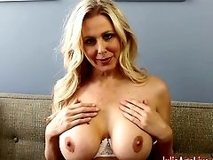 Huge-titted Blonde Professor Julia Ann Fucks Herself!