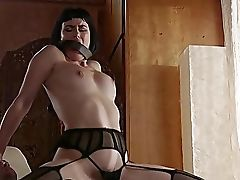 Addictive Porno For Subjugated Brown-haired On Fire
