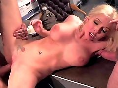 Taut Donk Blonde Doll Christie Stevens With Big Round Hooters