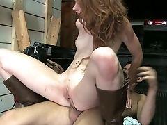 Skinny Crimson Haired Breezy Madelyn Rose Rails Hard Penis Face To Face After Deepthroat Bj