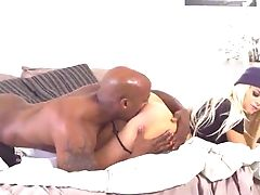 Youthfull Blonde Severe Hookup With A Black Stallion