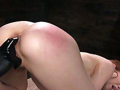 Legcuffed Whore Alexa Nova Has To Do Bridge While Being Masturbated