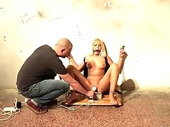 Subordinated Naked Czech Bitch Karol Lilien Is Immobile And Masturbated
