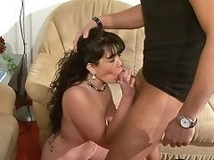Quickie Fucking In The Living-room Completes With Jizm On Bosoms. Hd