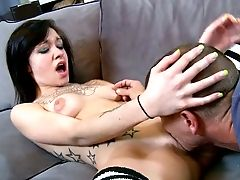 Trashy Coed In Knee Socks Gives Her Man An Amazing Blowage On Camera